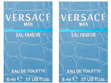 LOT OF 2 Versace Man Eau Fraiche for Men - 5 ml EDT Splash (Mini)