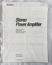 Sony TA-N55ES TA-N330ES Stereo Amplifier Receiver Owner Instruction Manual 1989