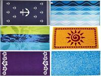 ARUS Turkish Terry Cotton Cloth Beach Bath Towel Anchor Floral Sea Shells Sun