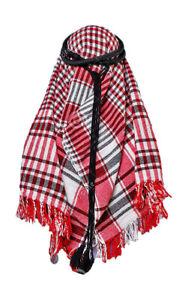 IGAL AGAL RING HEAD ARAB SCARF SHEMAGH TASSELS BLACK CORD DOUBLE FANCY DRESS NEW