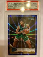 2019-20 Donruss Basketball Carsen Edwards RC Press Proof Blue Laser 34/49 PSA 10
