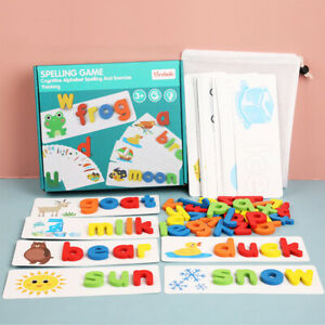 Spelling Word Puzzle Game Toy Sets English 26 Letters Recognition Alphabet Toddl