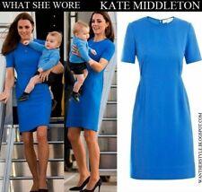 STELLA MCCARTNEY BLUE SHORT SLEEVE RIDLEY STRETCH CADY DRESS KATE MIDDLETON 40