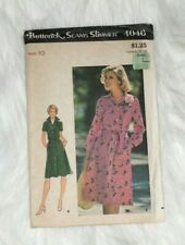 Vintage Butterick 1974 Clothing Sewing Pattern 4046