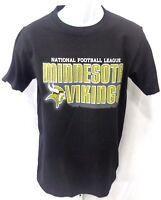 Minnesota Vikings NFL Football Short Sleeve T-Shirt Black New