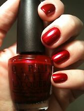 I'm Not Really A Waitress -- OPI -- BLACK LABEL Allure 1999 --  Red Nail Polish