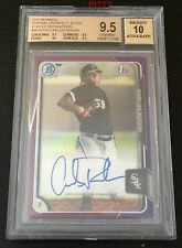 CARLOS RODON RC AUTO 2015 BOWMAN CHROME PURPLE REFRACTOR /250 BGS GEM MINT 9.5