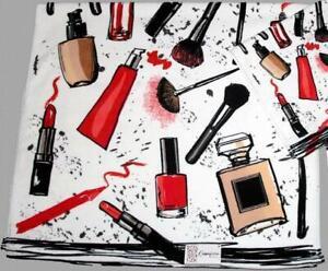 Make-Up Brushes Mascara Lipstick Perfume Fingernail Polish Velour BATH Towel NWT