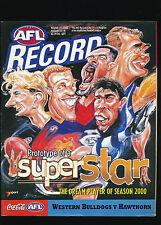 2000 AFL Football Record Western Bulldogs vs Hawthorn Hawks Round 22  unmarked
