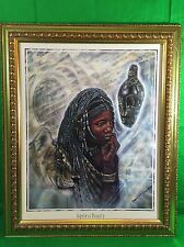 AGELESS BEAUTY Framed African Art Print By Jonnie K.C. Chardonn Collectible Gift