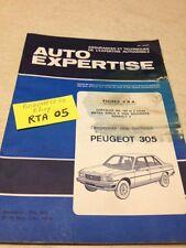 Auto expertise Peugeot 305 N° 74 1978 + fiche R5 Bagheera Chrysler 160 180 2 ltr