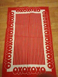 Vintage OXO Advertising Tea Towel Retro Red Linen Content