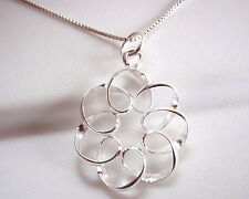 Curls and Spirals Necklace 925 Sterling Silver Corona Sun Jewelry