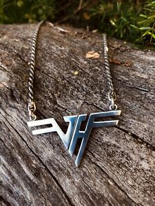 Solid Sterling Silver inspired Van Halen Pendant  24 Inch Sterling Silver Chain