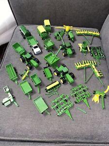 ERTL 1/64 John Deere Tractors Trailers & Farm Equipment Lot of 28 Green Yellow