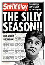 The Silly Season, Bernard Shrimsley, New Book