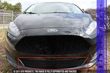 GTG 2014 - 2017 Ford Fiesta 1PC Gloss Black Replacement Bumper Billet Grille
