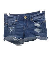 Aeropostale Midi Jean Shorts Size 00 Short Rolled Stretch Denim Distressed