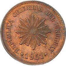 Republica Oriental Del Uruguay 2 Centésimos 1951 KM#20a Chile Mint (4573) NICE!