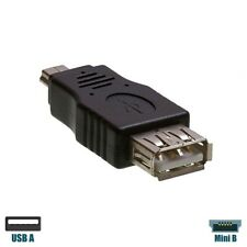 2pcs Car USB A Female to Mini USB B Male 2.0 Type 5 Pin F//M Adapter Converter YA