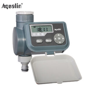 LCD Solenoid Valve Water Tap Timer Irrigation Controller With Rain Sensor Hole