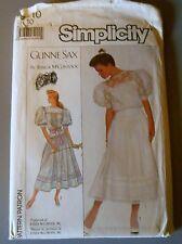Vintage Gunne Sax Jessica McClintock Simplicity #8610 Dress Pattern Uncut 10