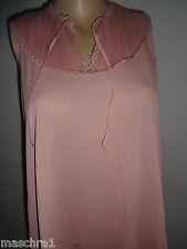 Seidig glänzend  * Nylon  Negligee * Italy *Italy *rosa *38 * mit Plissee