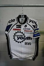 Champ-Sys Custom Cycle Youth Team Cycling Jersey White/Black Adult Size XL Used