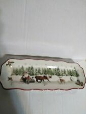 """Better Homes & Gardens Heritage Collection CeramicHoliday Tray 15"""" x 4"""""""