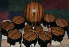 Custom Hand Made Zebra Wood 35mm round ball top and matching dust cover