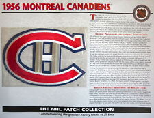 Willabee Ward ~ Nhl Throwback Hockey Patch & Info Card ~ 1956 Montreal Canadiens