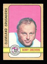 1972-73 - OPC - O-PEE-CHEE - GERRY CHEEVERS - CLEVELAND CRUSADERS - No. 340