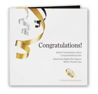 """2018-W """"Congratulations Set"""" - Proof Silver Eagle - FREE SHIPPING (Great Price)"""