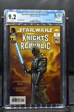 Star Wars Knights of the Old Republic #9 CGC 9.2 Dark Horse 2006 1st App Revan