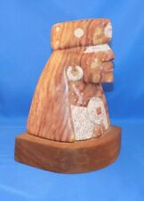 Alabaster Sculpture of Native American Indian by David Van Fleet