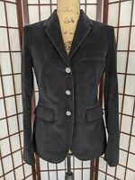 Women's Brooks Brothers 346 Milano Fit Black Corduroy Blazer Jacket Size 4