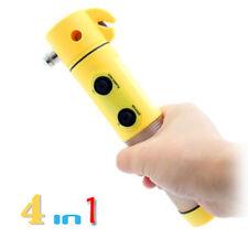 Q47 4 in 1 Werkzeug Auto KFZ Notfallhammer Gurtschneider Taschenlampe Blicklicht
