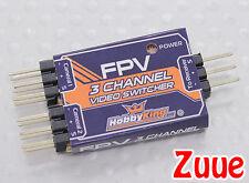 3 channel fpv video switcher-feuilleter entre gopro et Conseil cam avec un commutateur!