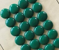 "Vintage Buttons - 24 Aqua Green Color 7/16"" (12 mm) Casein Shank Buttons - USA"