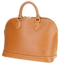 Authentic LOUIS VUITTON Alma Hand Bag Epi Leather Brown France M54148 71MA321