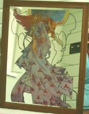 More details for vintage large picture mirror, jim fitzpatrick 75, macha nemeo, king of ireland