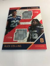 C.J. Prosise Alex Collins Rookie Dual Prime Red 11/25 2016 Panini Unparalleled