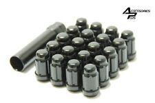 SET OF (20) & (1) KEY 12X1.5 BLACK SPLINE TUNER 6 SPLINE LOCK LUG NUT # AP5655BK
