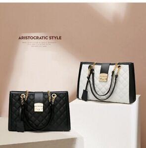 Fashion women casual leather chain shoulder largecapacity designer messenger bag