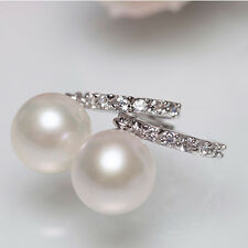 Dangle Sterling 8-9mm Hypoallergenic Hot Ring Silver Pearl Earrings Freshwater