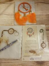 Dream Catcher Set Of 3. Wall Hanging, Necklace And Keychain With Pen