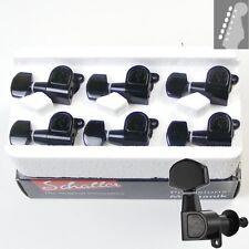 Schaller M6 Standard Tuners/machine heads, 6inline Black with Button 1 10010420