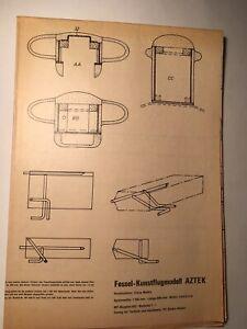 Original Bauplan  RC - Flugzeugmodell Fessel - Kunstflugmodell * AZTEK *