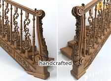 Victorian wood balusters designs - Stair parts (10 pc.)