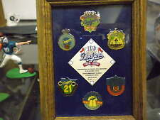 DODGERS SET OF 6 PINS COMMEMORATING 100 YEARS 1890 TO 1990 !!!